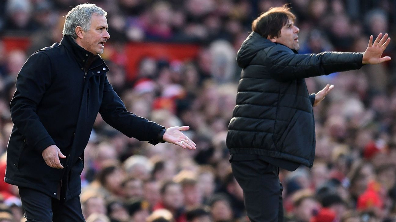 Jose Mourinho and Antonio Conte have faced criticism this season.