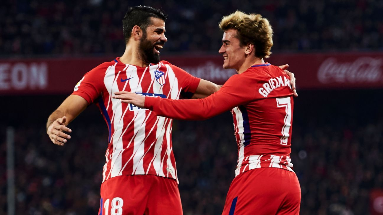 Diego Costa and Antoine Griezmann