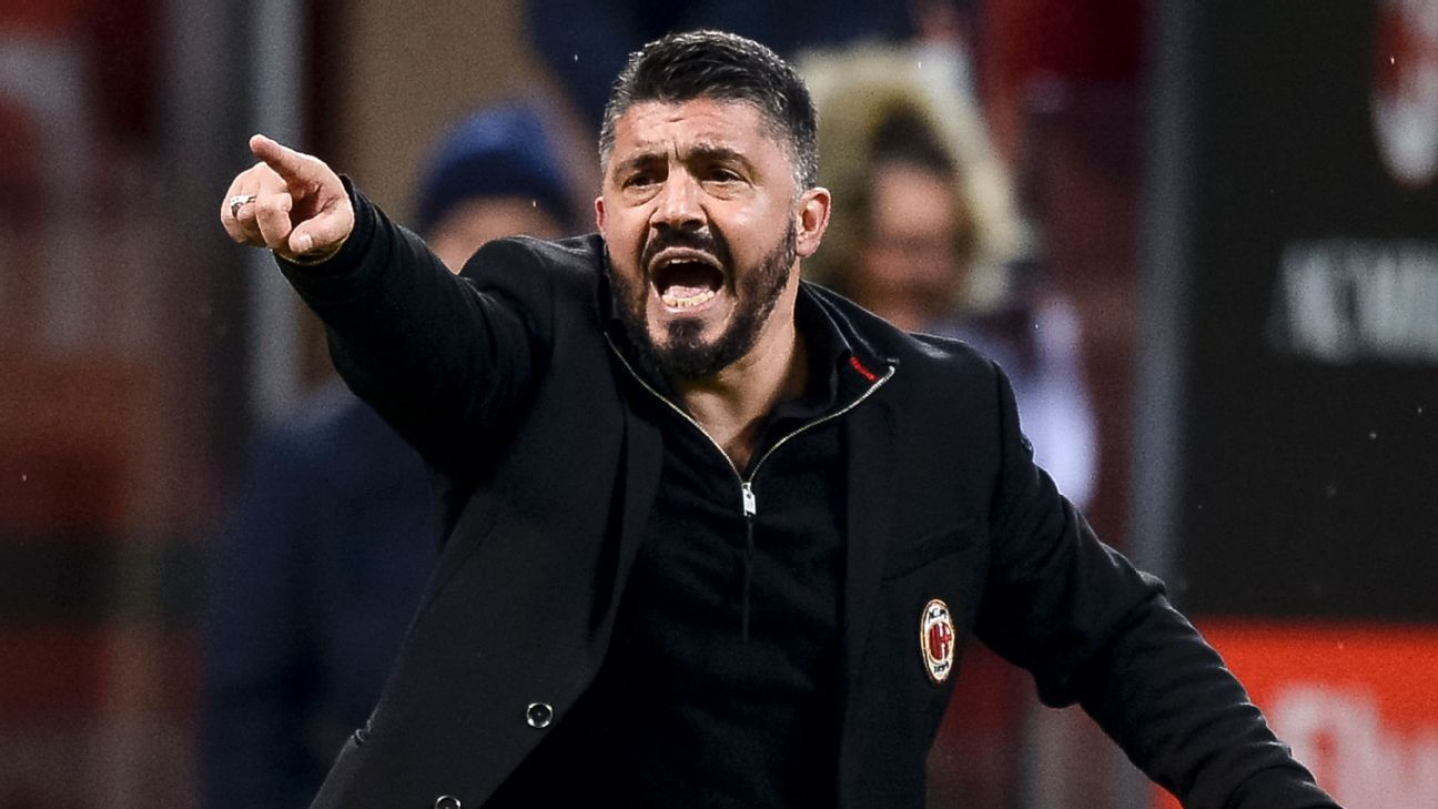 Gennaro Gattuso led Milan into the Europa League after taking over as coach last season.