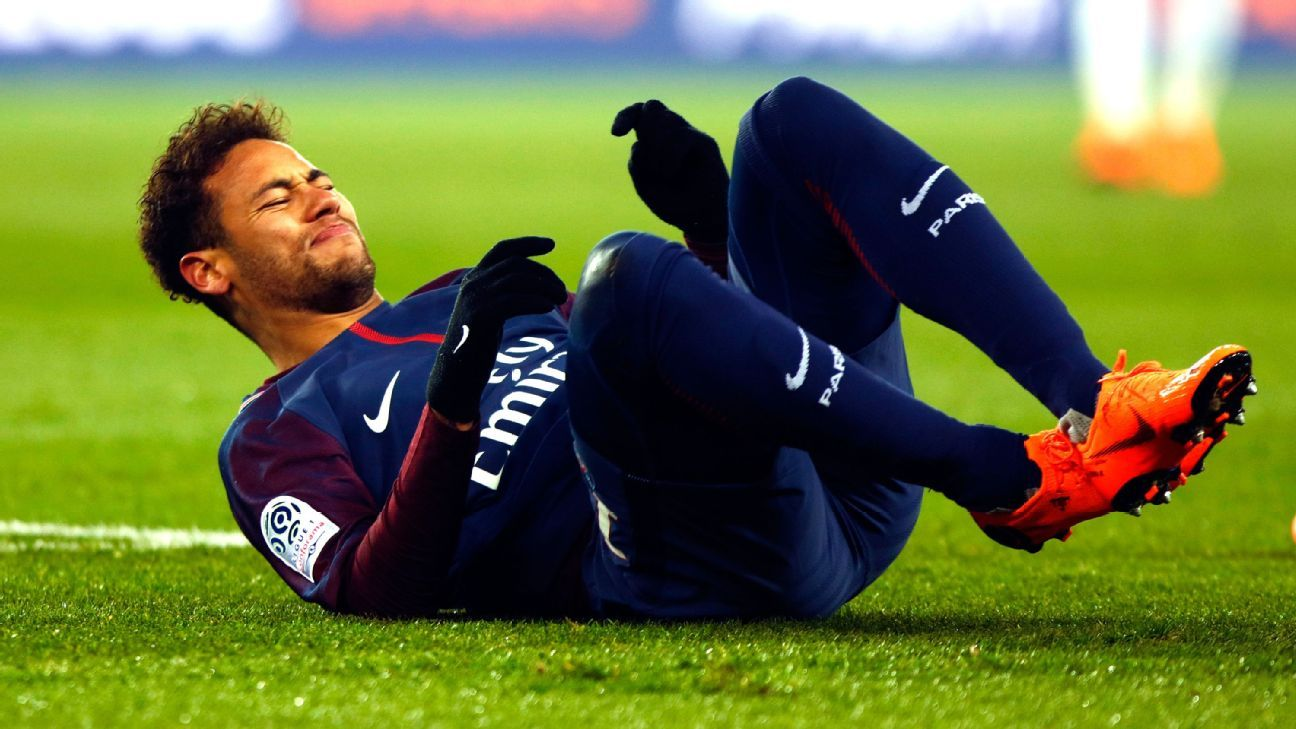 Neymar Jr of PSG during the French Championship Ligue 1 soccer match between Paris Saint-Germain and Olympique de Marseille on february 25, 2018 at Parc des Princes stadium in Paris, France.
