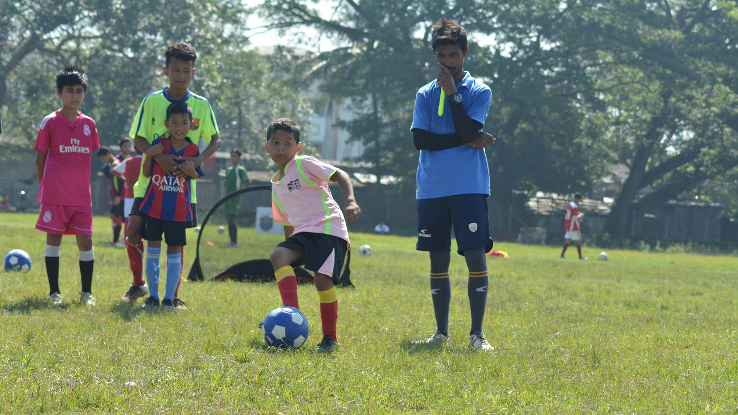 U-13 boys at a summer camp, the first project organised by the newly formed Guwahati City FC held the Guwahati University  stadium, Jalukbari. The camp was attended by 165 boys from the region, and also had a camper each from Bhutan and Chattisgarh.