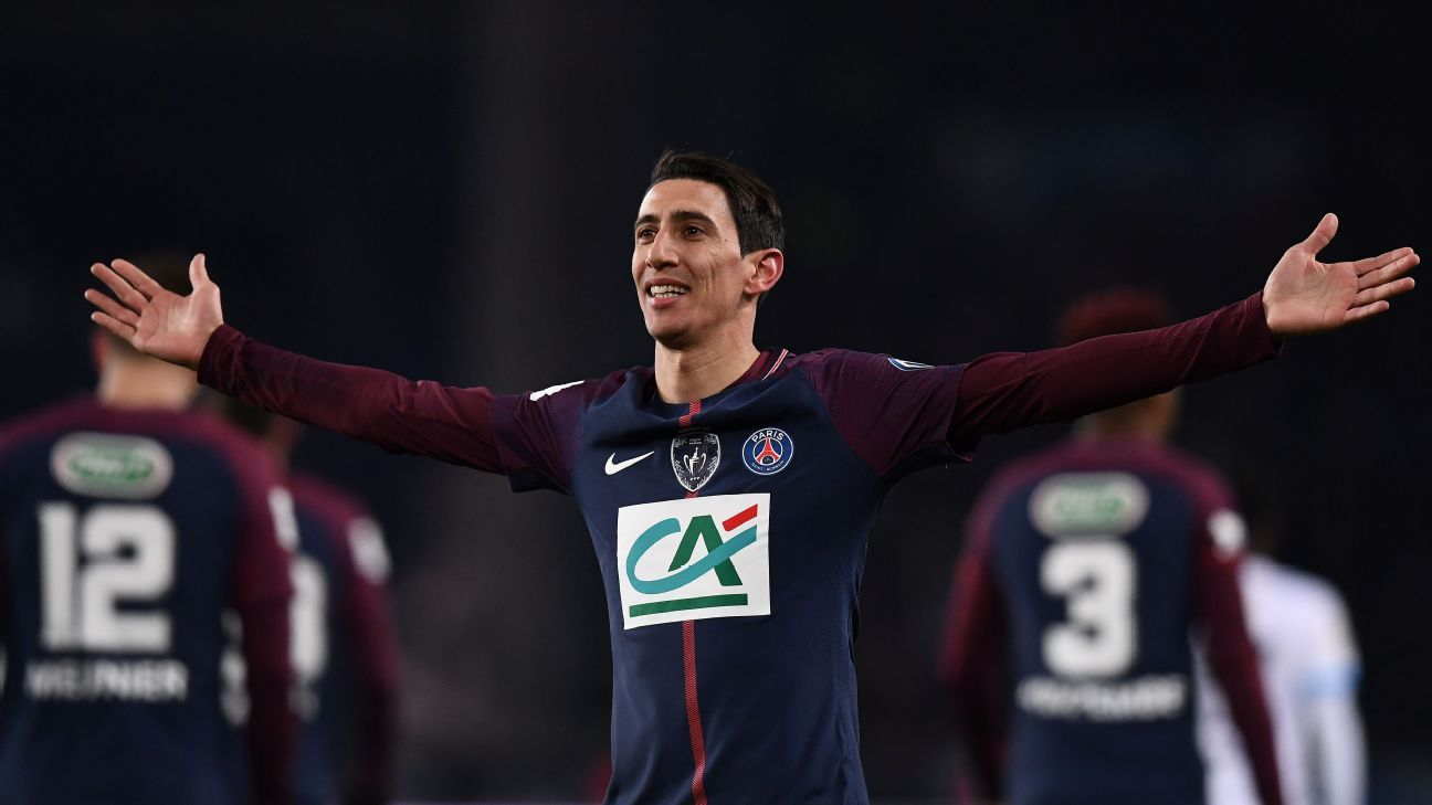Paris Saint-Germain's Angel Di Maria