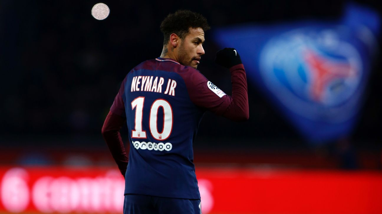 Neymar was injured during PSG's Ligue 1 match against Marseille.