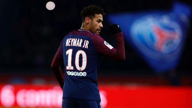 Neymar was injured during PSG's Ligue 1 match against Marseille.