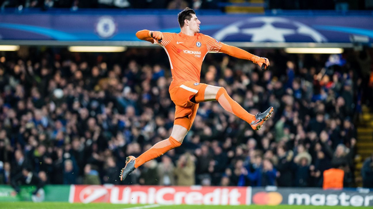 Thibaut Courtois has a year left on his Chelsea contract.
