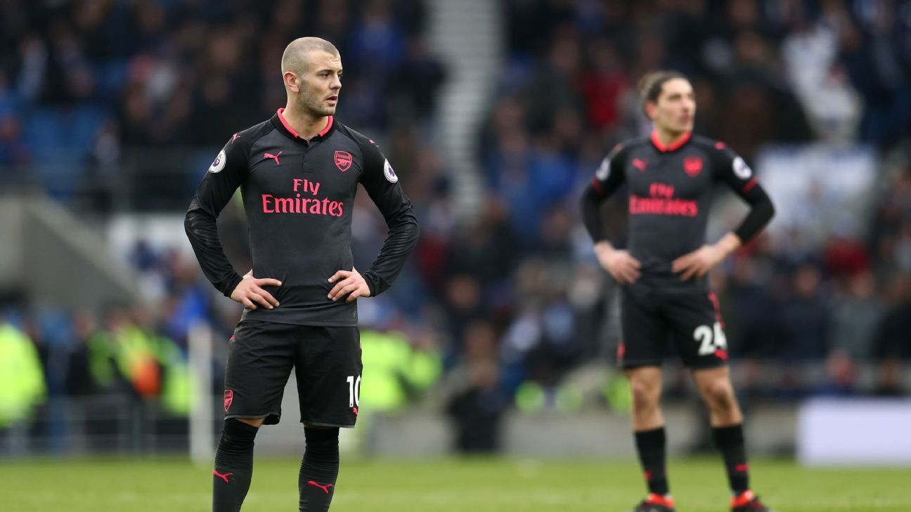 Sunday's loss to Brighton was a new low for reeling Arsenal.