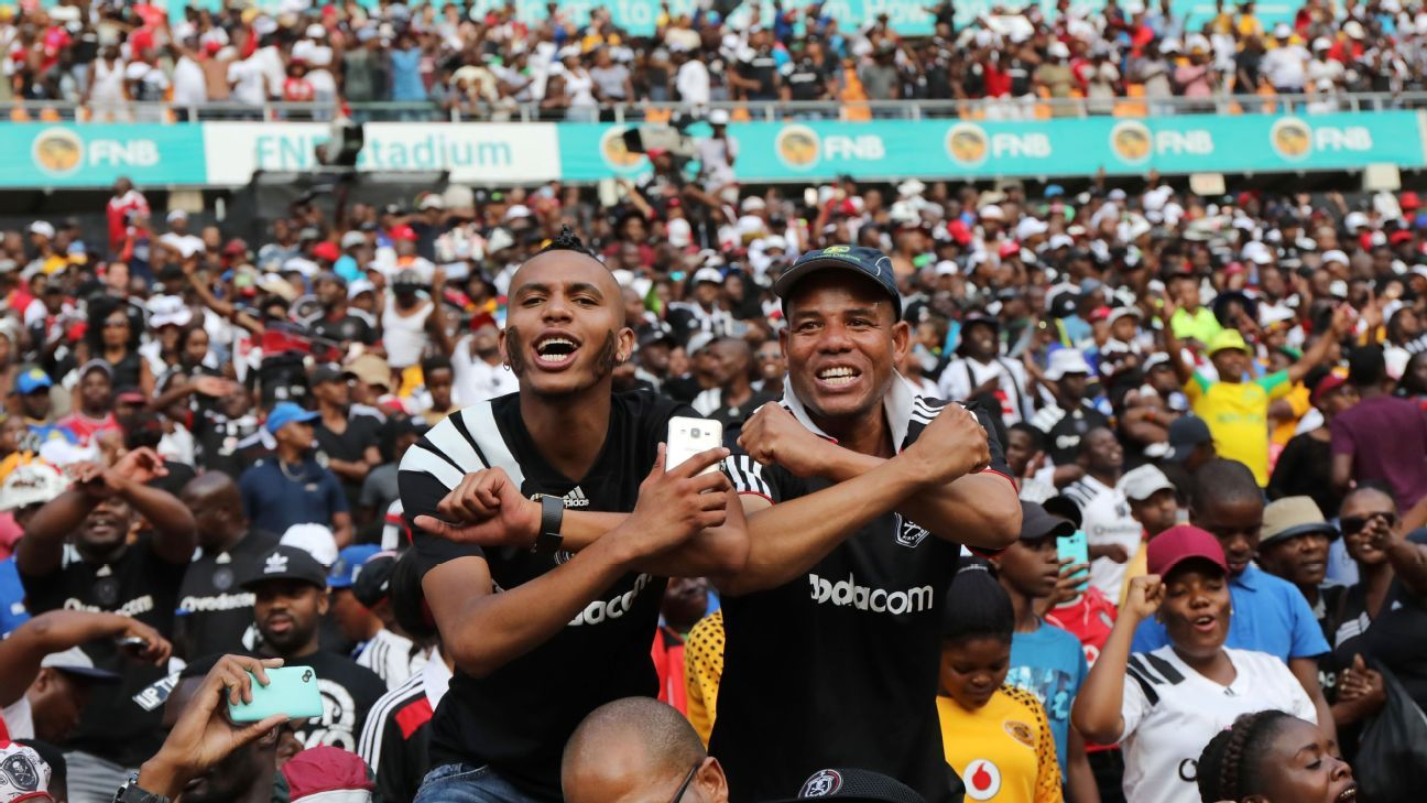 Orlando Pirates fans show their support