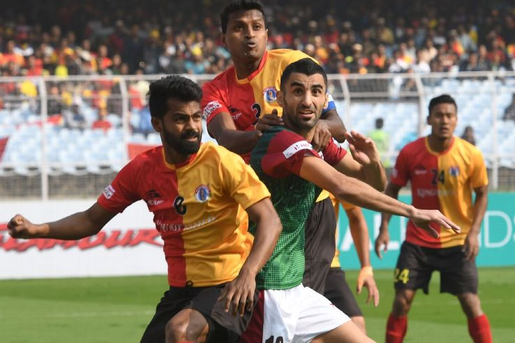 Traditional rivals East Bengal and Mohun Bagan are level on points but the latter are ahead due to a superior head-to-head.