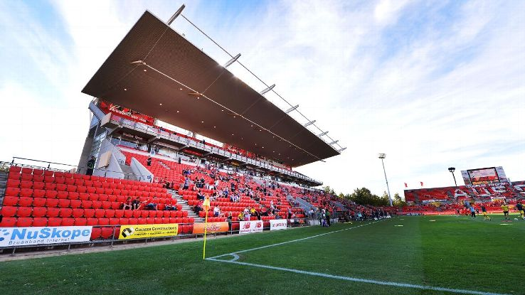 A general view of Adelaide United's Coopers Stadium ahead of the A-League match against the Central Coast Mariners.
