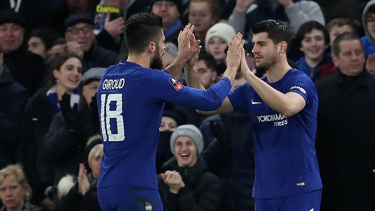 Alvaro Morata and Olivier Giroud have endured up and down debut seasons at Chelsea.