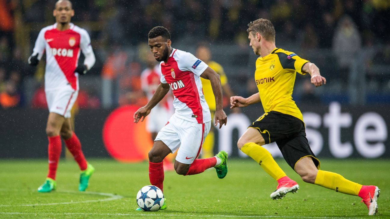Lemar action vs Dortmund TT