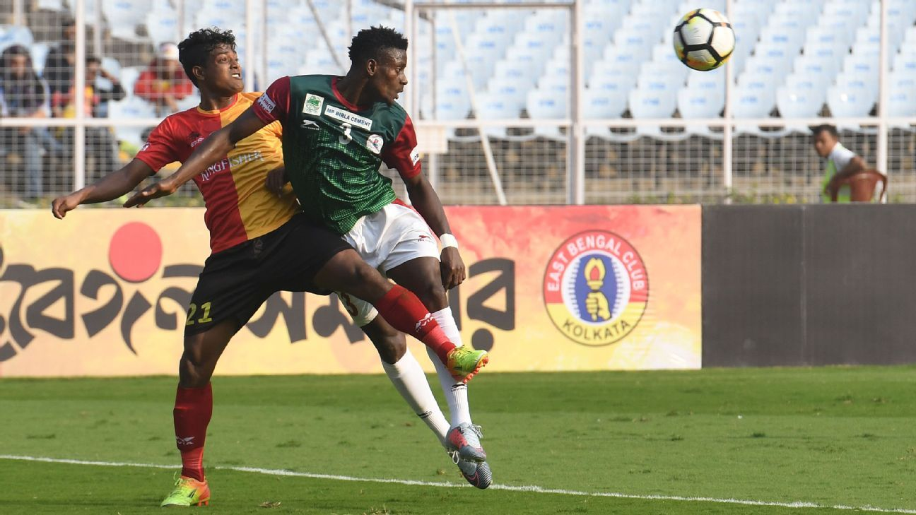 At the end of the I-League season, Mohun Bagan and East Bengal had identical figures of eight wins, seven draws and 31 points. They finished below Minerva and NEROCA.