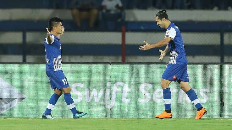 Chhetri has now scored 13 goals for BFC in the ISL this season.