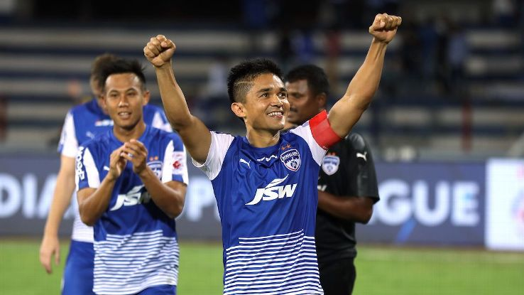 Sunil Chhetri's hat-trick earned Bengaluru a place in the final in their maiden ISL campaign.