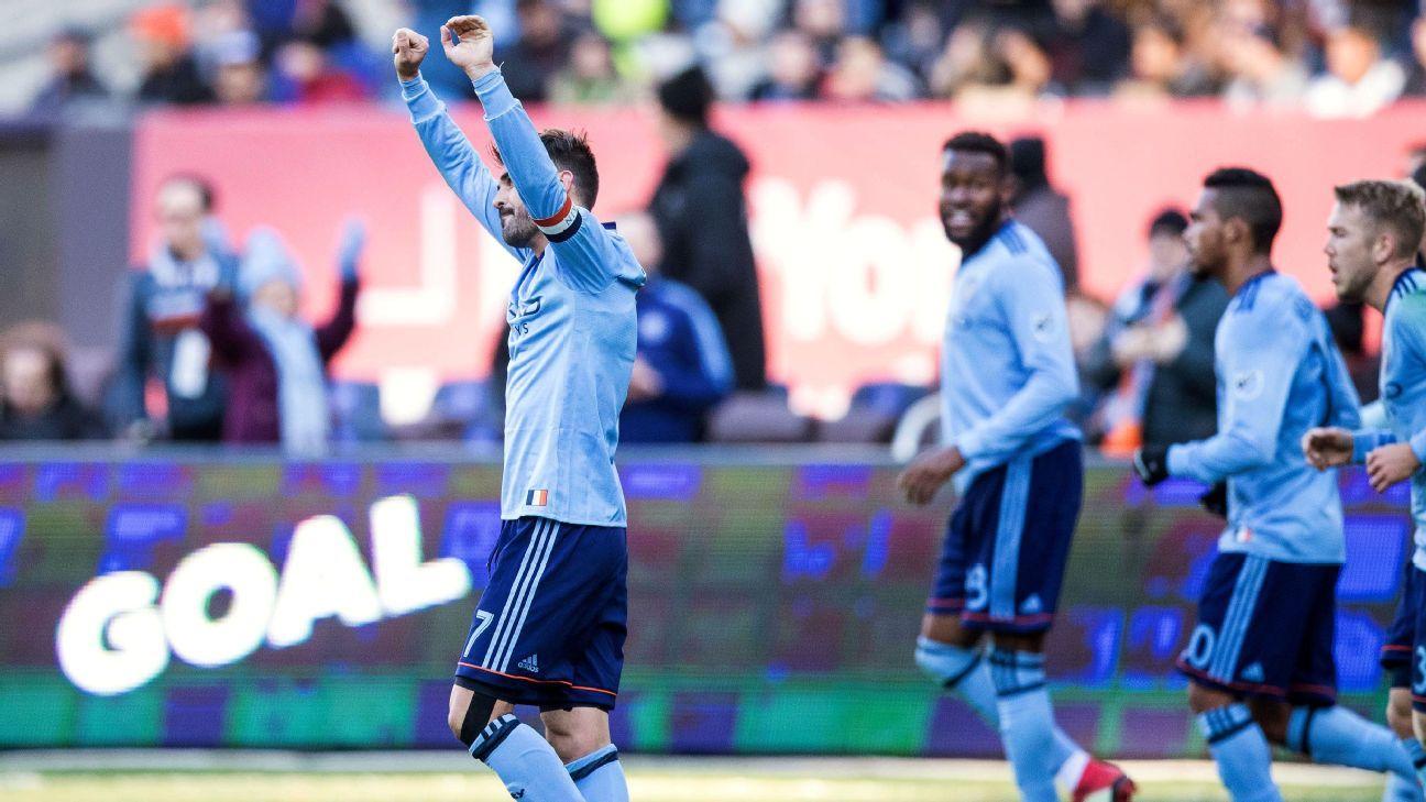 Tinnerholm, Villa goals lead New York City FC past LA Galaxy
