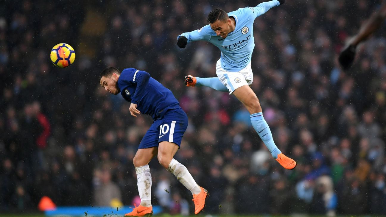 Eden Hazard said 'we could have played on for three hours and I wouldn't touch a ball' after Chelsea's loss to Manchester City