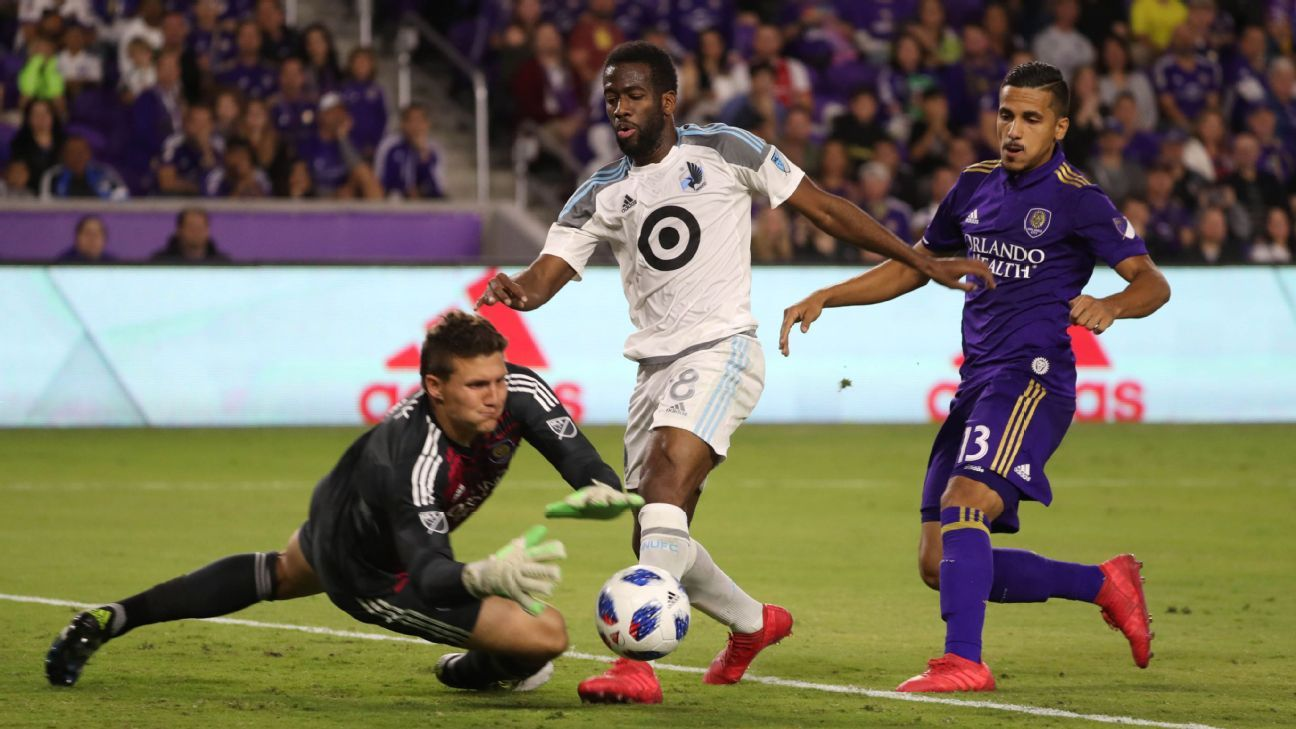 Minnesota midfielder Kevin Molino to miss rest of season with torn ACL