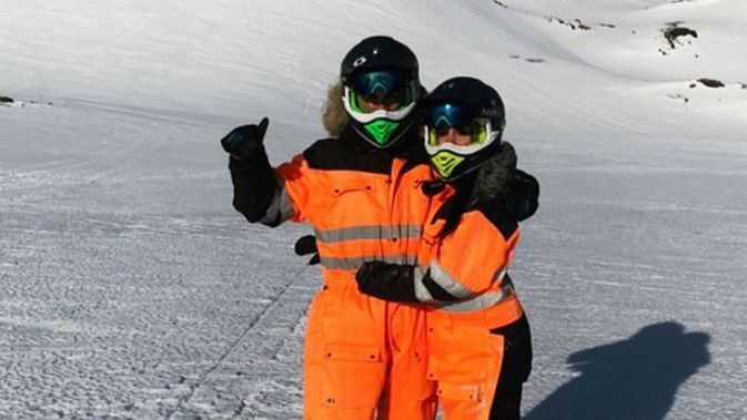 Cristiano Ronaldo and Georgina Rodriguez enjoy ski-mobile trip