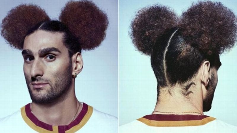 Marouane Fellaini rocks Mickey Mouse-style bunches