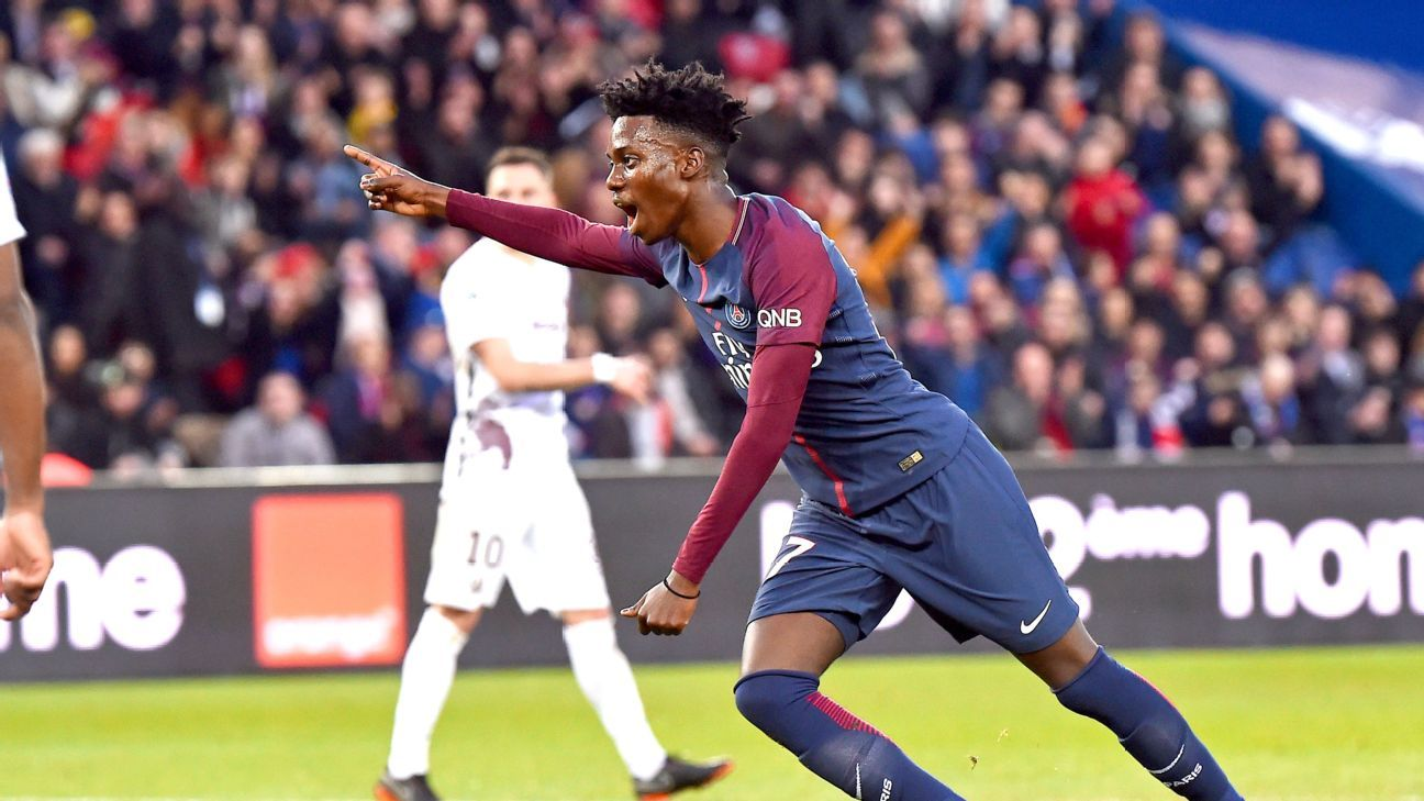 Paris Saint-Germain's Timothy Weah is tipped for a bright future.