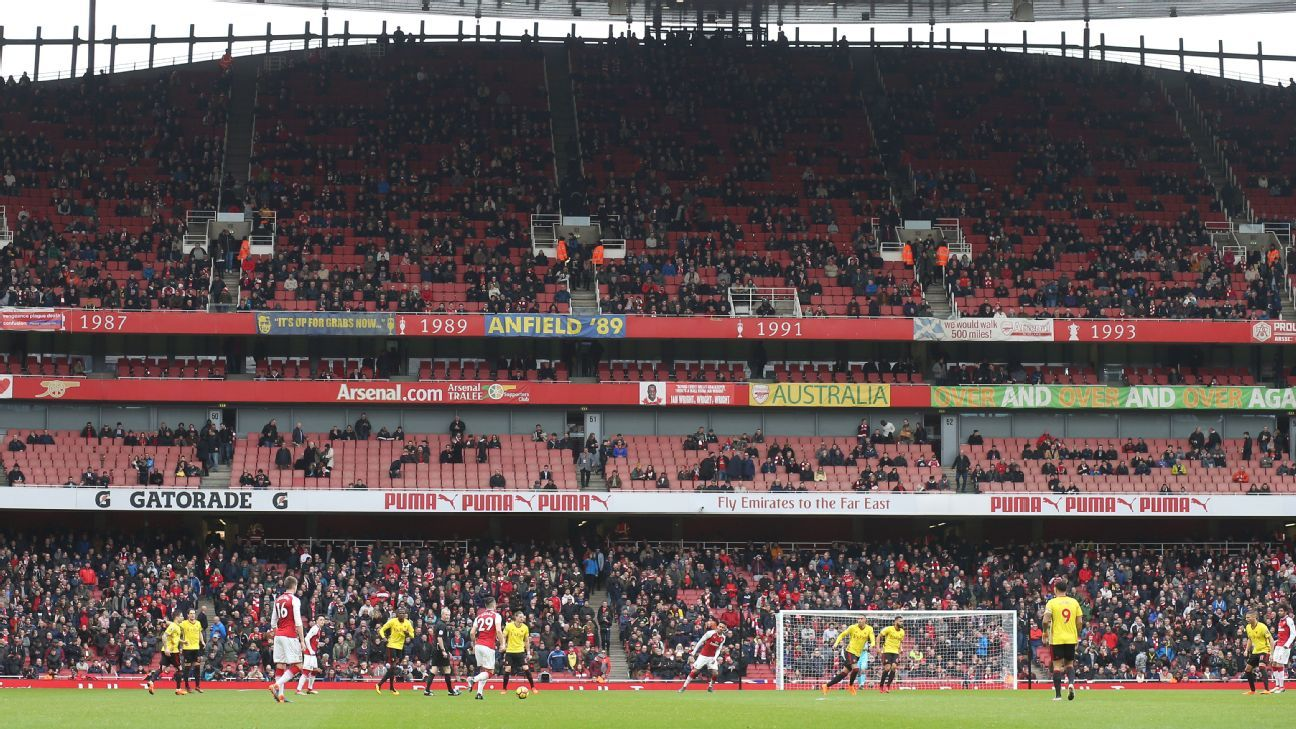 Arsenal fans have stayed away from the Emirates in recent weeks.