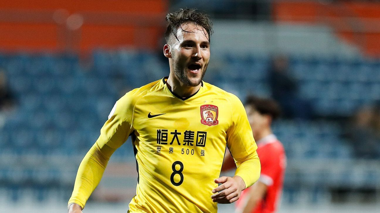Midfielder Nemanja Gudelj played just 11 times in the Chinese Super League for Guangzhou.