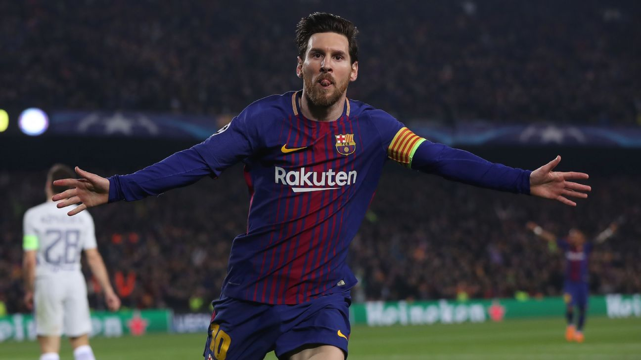 Five-time Ballon d'Or winner Lionel Messi has Barcelona seeking a treble.