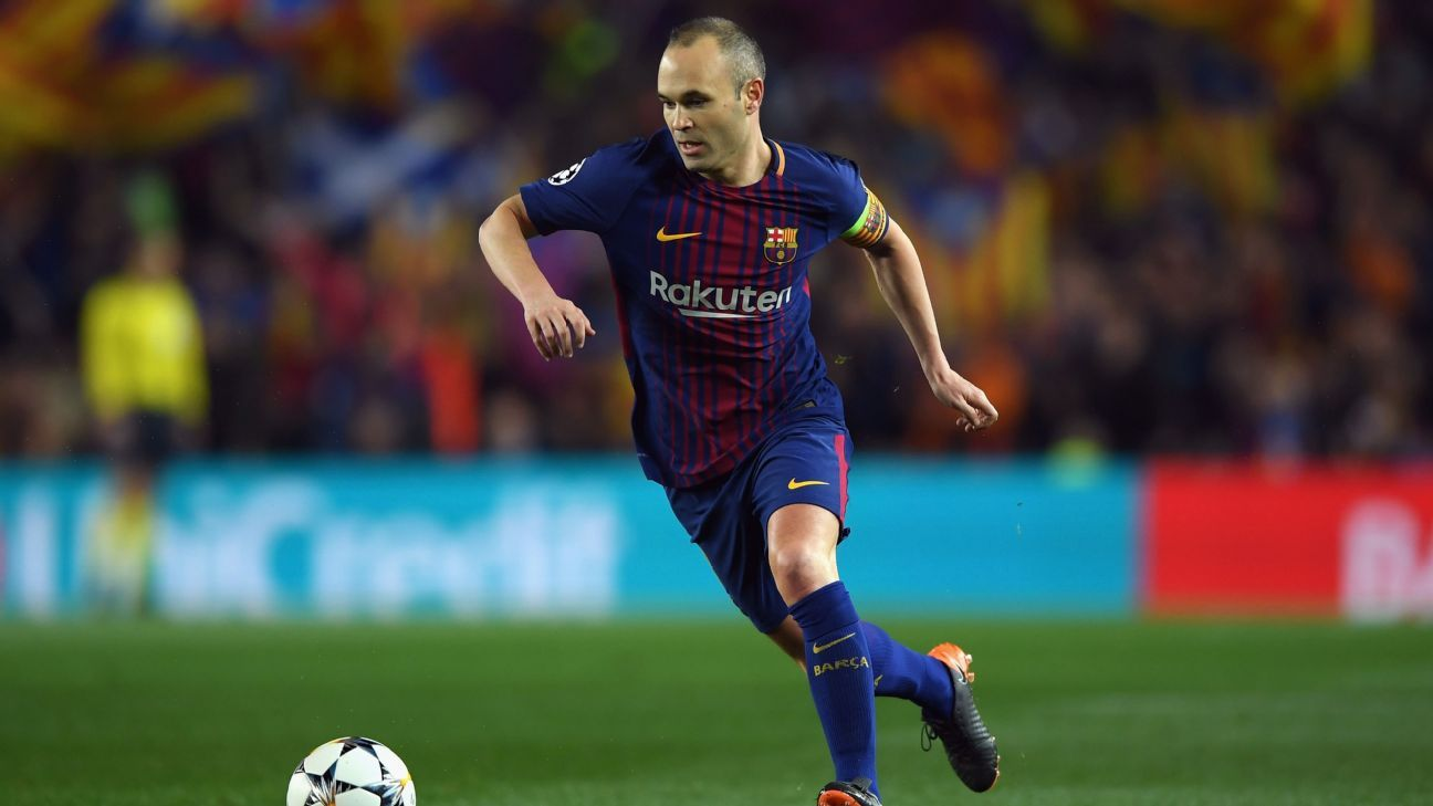 Andres Iniesta left Barcelona after a trophy-laden carer at the Camp Nou.