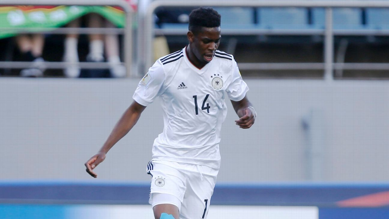 Jordan Torunarigha playing in the 2017 FIFA U-20 World Cup