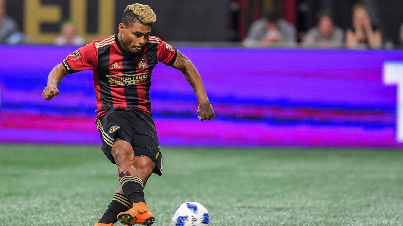 Atlanta United's Josef Martinez injures arm after Ezequiel Barco returns to training