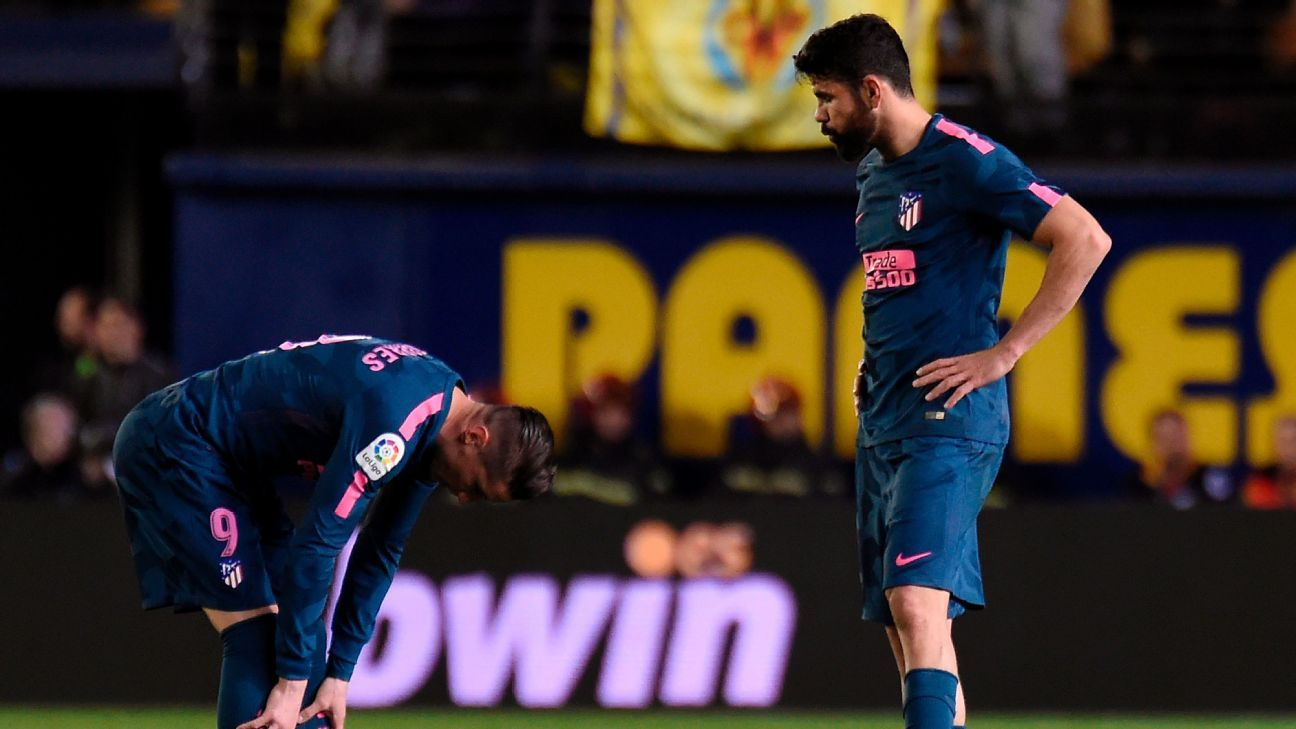Fernando Torres and Diego Costa react to Villarreal's late comeback win over Atletico Madrid.