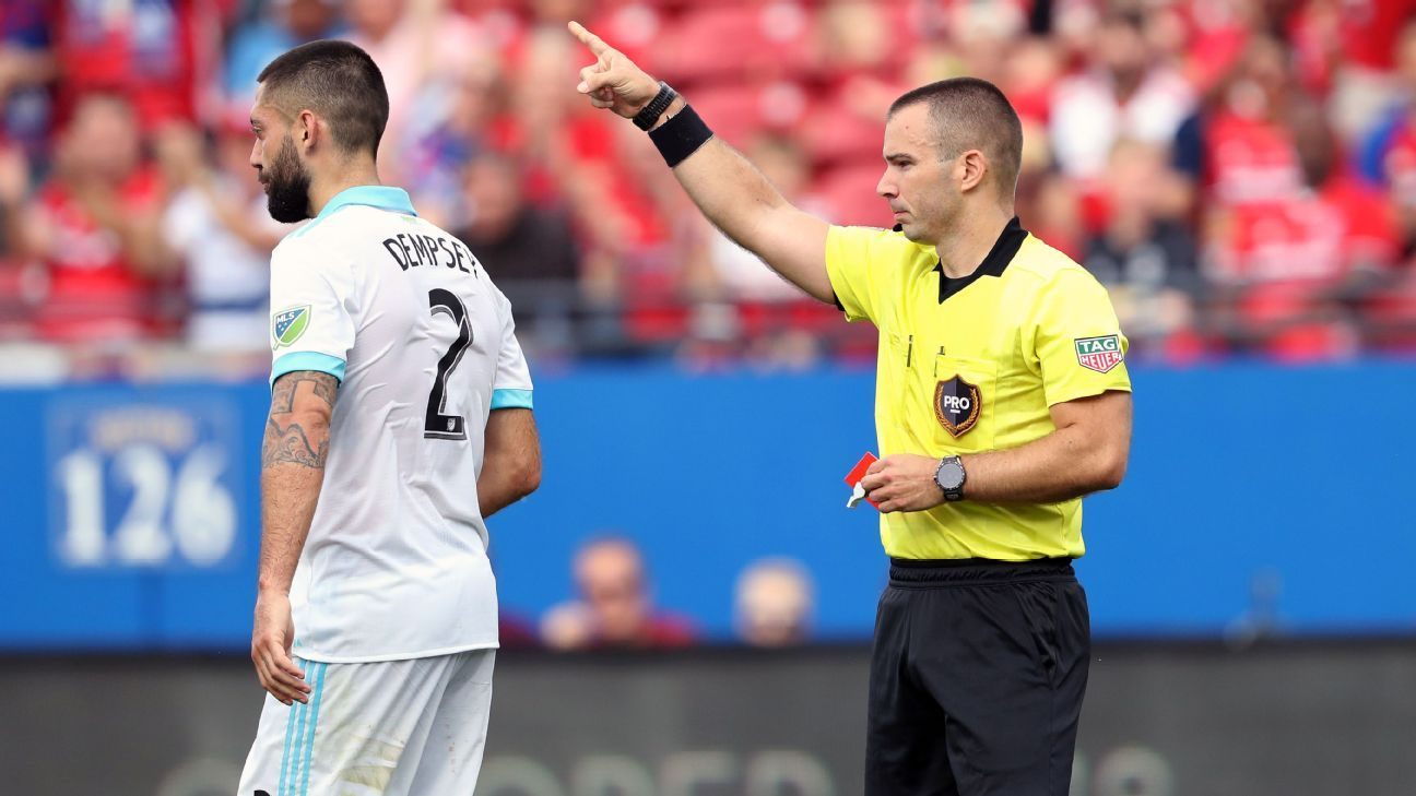 Clint Dempsey sent off for violent conduct as FC Dallas whips Sounders