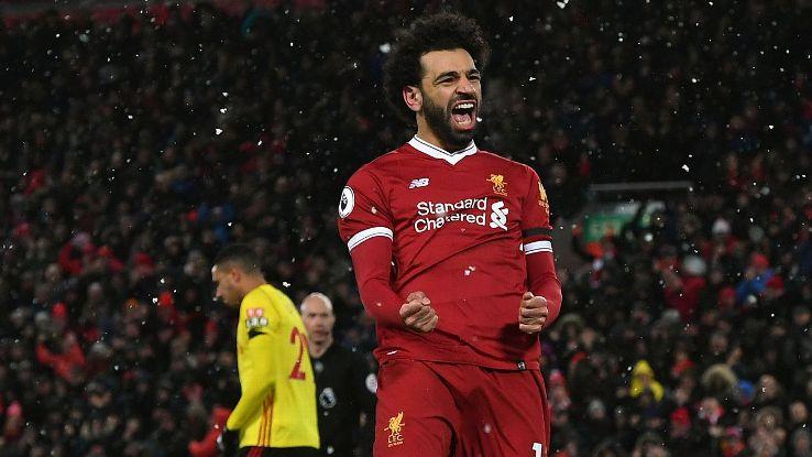 Mohamed Salah scored four in a blinding performance vs. Watford.