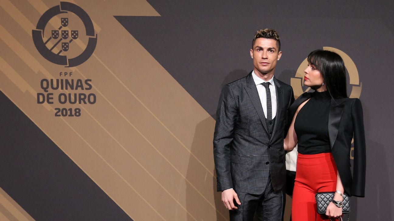 Cristiano Ronaldo and Georgina Rodriguez at 'Quinas de Ouro' 2018 in Lisbon