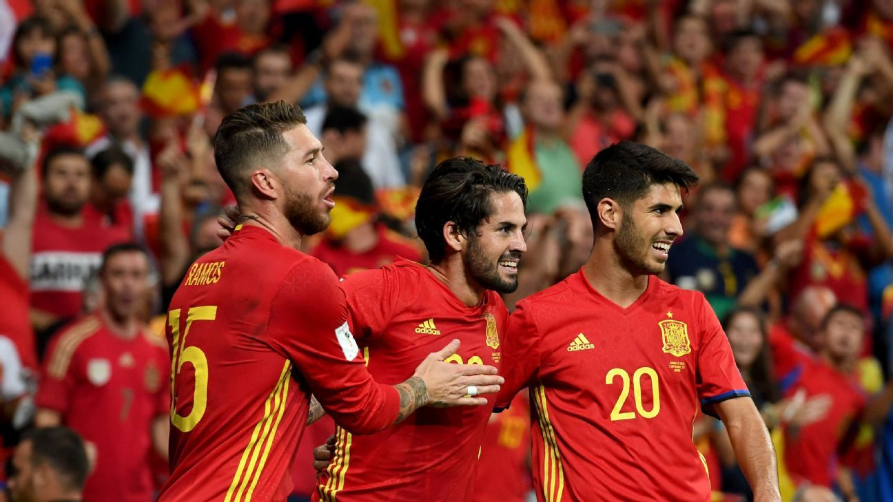 Sergio Ramos, Isco and Marco Asensio are part of the Real Madrid revival with the Spanish national team.