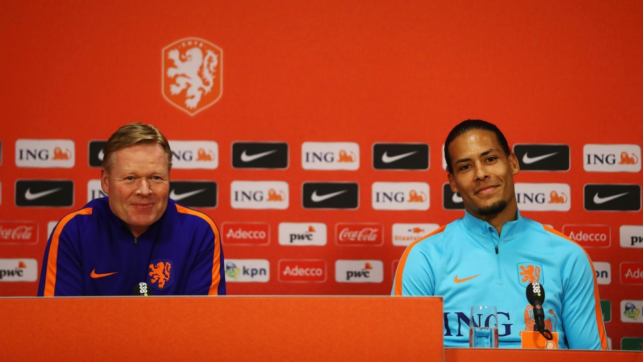 Ronald Koeman named Virgil van Dijk as his Netherlands captain.