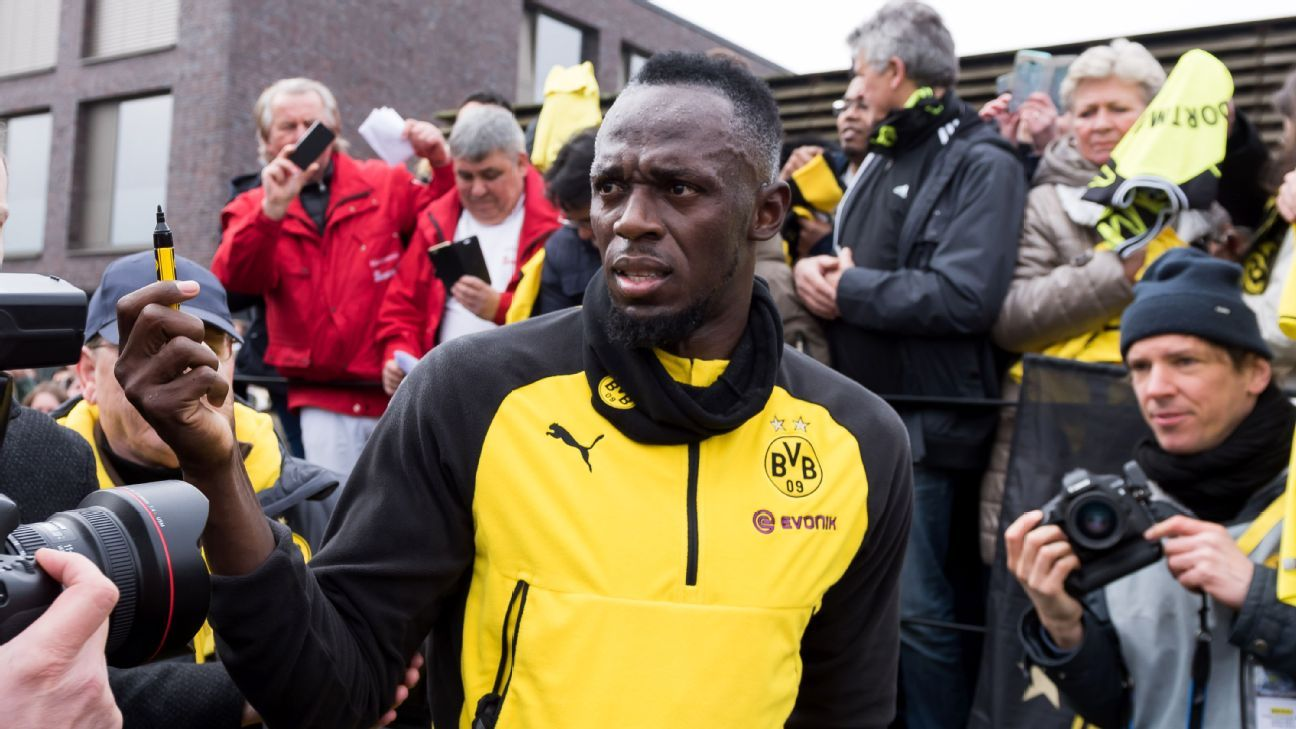 Olympic icon Usain Bolt has also trained with Borussia Dortmund.