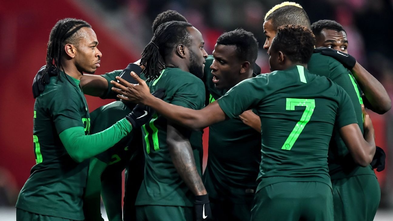 Nigeria celebrate vs. Poland