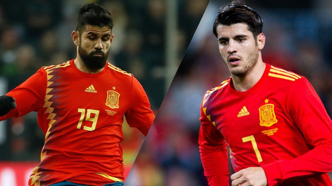 Diego Costa and Alvaro Morata