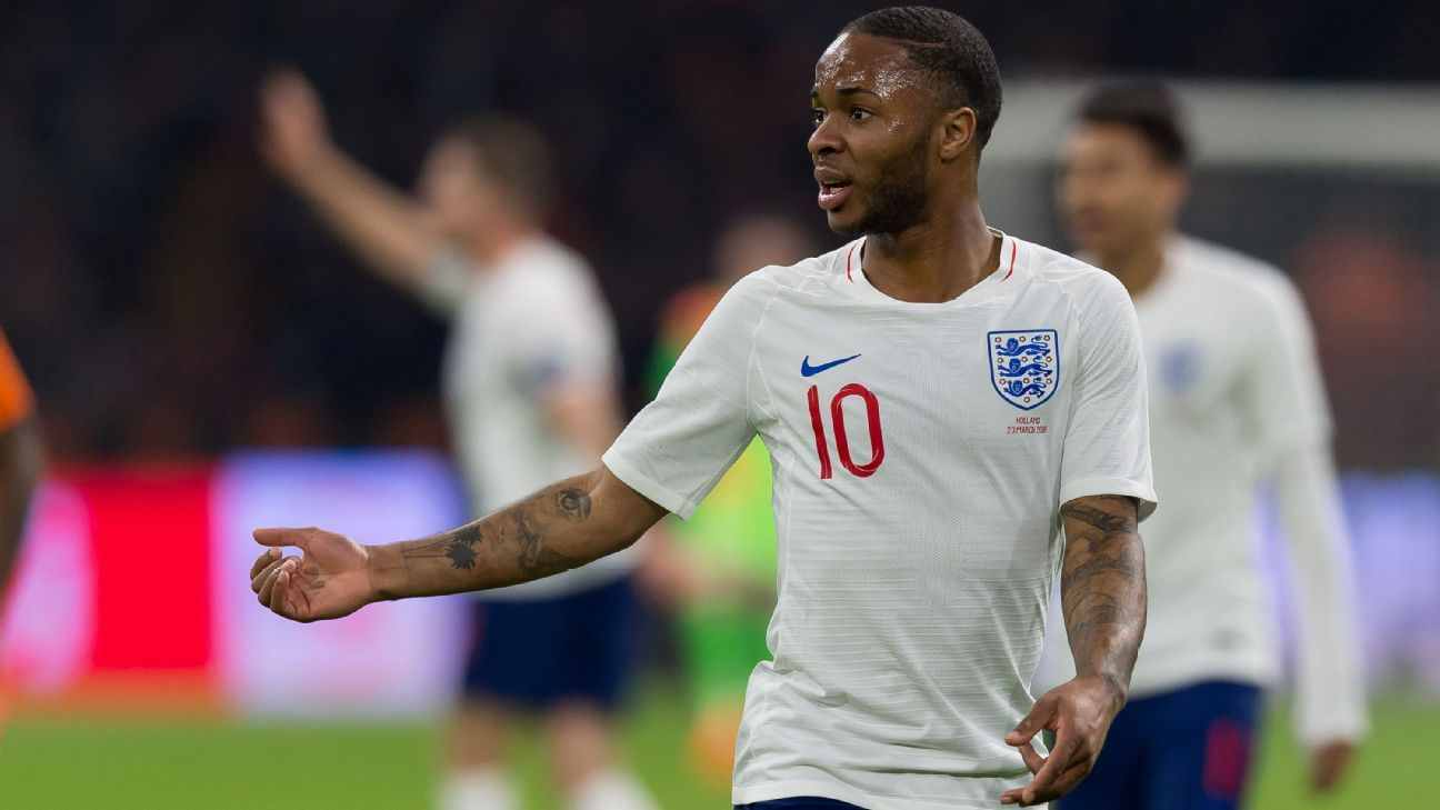 Raheem Sterling is likely to start for England at the World Cup.