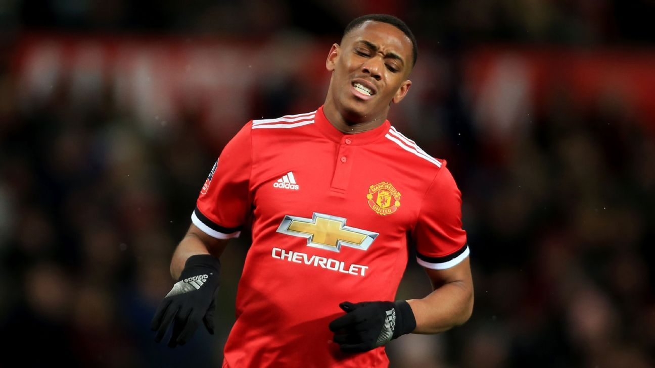 Anthony Martial has cut a frustrated figure at times this season for Manchester United.