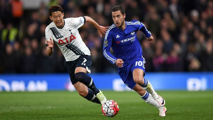 Son Heung-Min and Eden Hazard