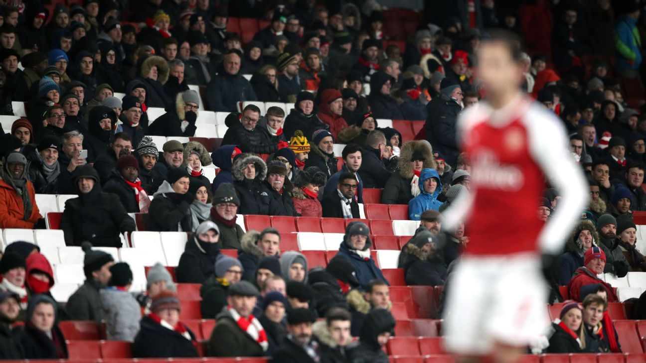 Arsenal's Arsene Wenger not concerned by empty seats, low attendance