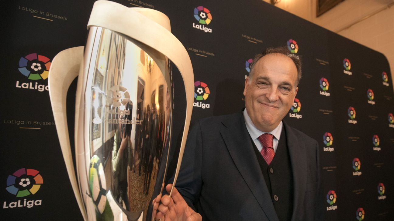 La Liga president Javier Tebas has grand aspirations for the Spanish league.
