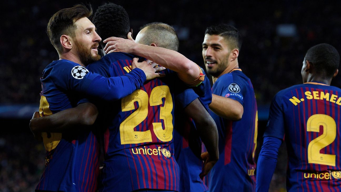 Barcelona cruised to a 4-1 against Roma despite being below their usual standard.