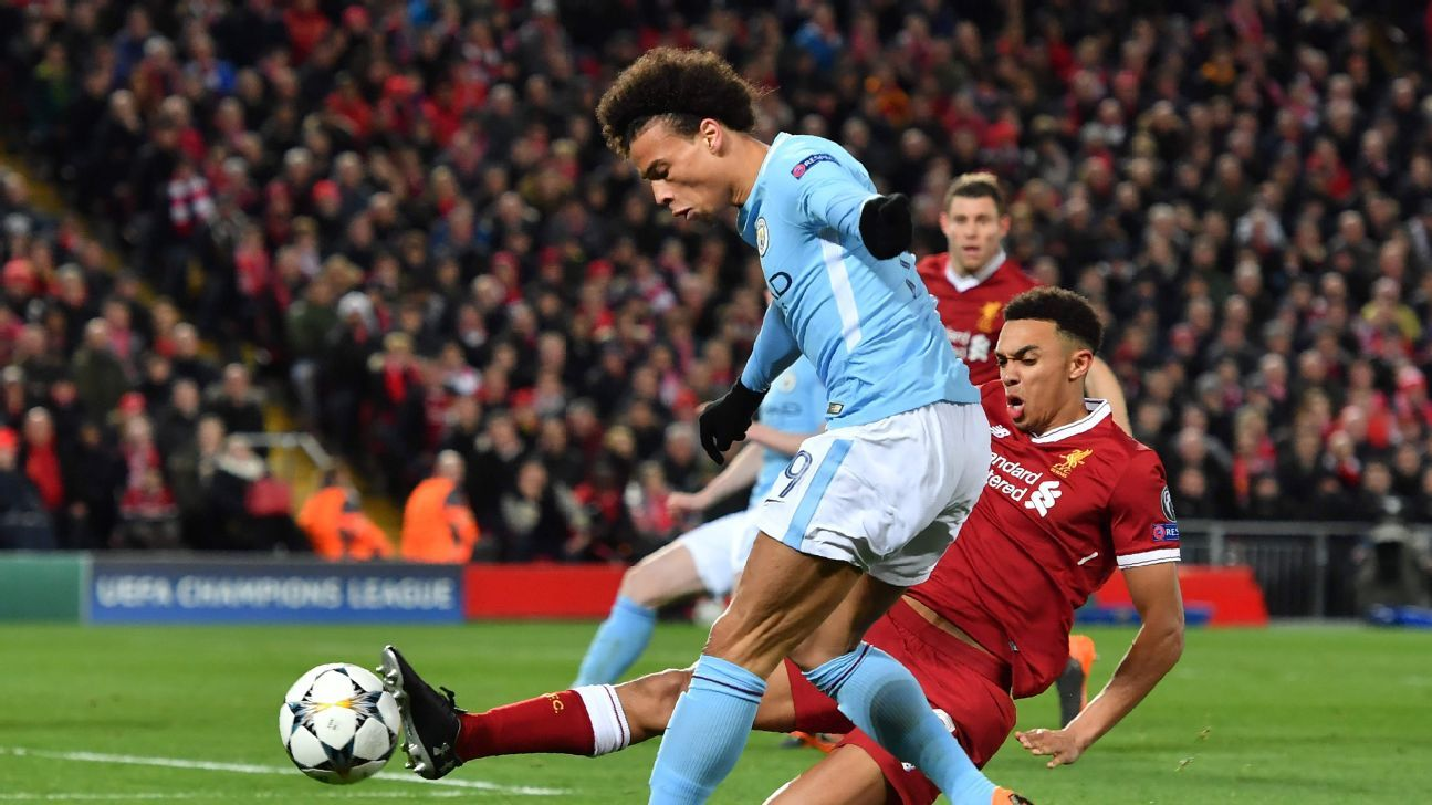 Trent Alexander-Arnold rose to the occasion to shut down dangerous winger Leroy Sane.