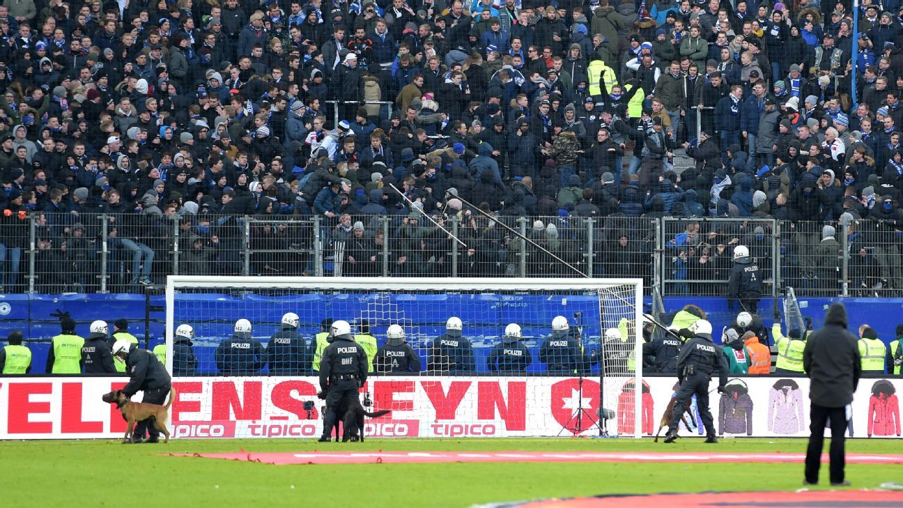 Hamburg have increased security at recent games.