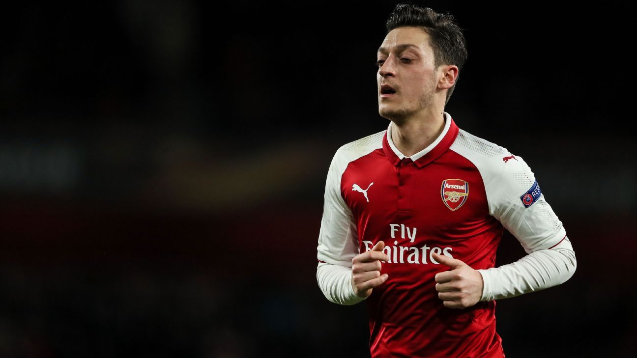 Mesut Ozil during Arsenal's Europa League win against CSKA Moscow.
