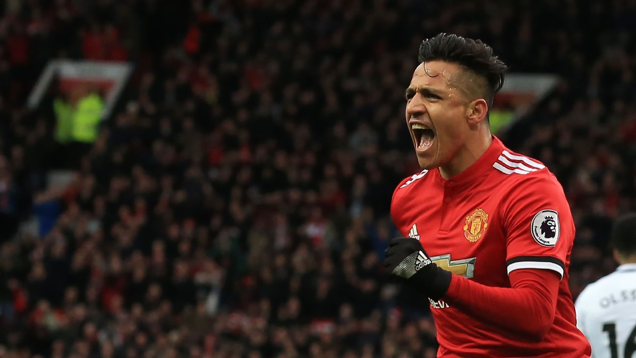 Manchester United's Alexis Sanchez