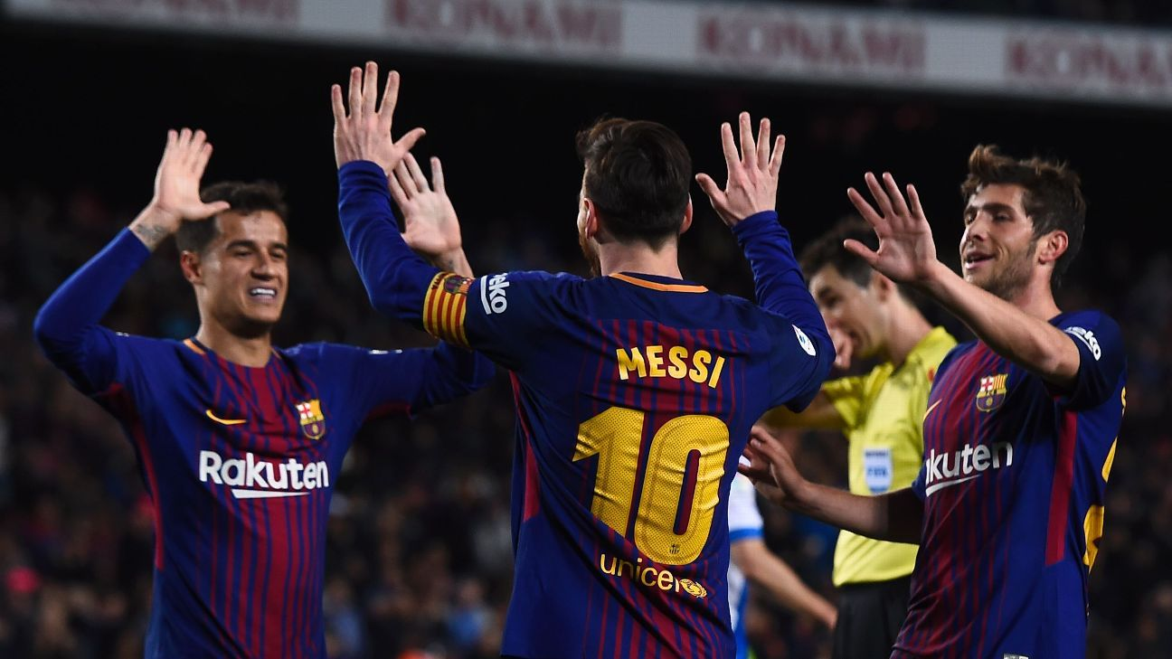 Barcelona have now gone 38 games in La Liga without losing, matching a 38-year-old league record.